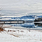 Chatuge Dam Winter Vista Art Print