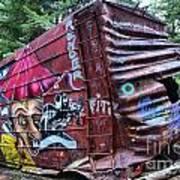 Cheakamus Box Car Graffiti Art Print