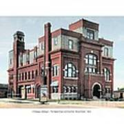 Cheboygan Michigan - Opera House And City Hall - Huron Street - 1905 Art Print