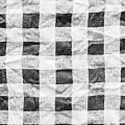 Checked Cloth Art Print