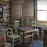 Checker Game Setting In A Back Room No. 3105 Art Print