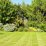 Checkerboard Lawn Art Print