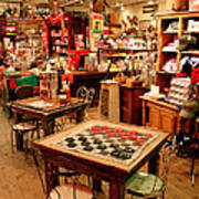 Checkers At Jefferson General Store Art Print