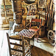 Checkers At The General Store Art Print