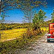 checking route getawayJefferson co.. IN Art Print