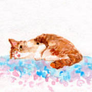Cheeky Cat Art Print