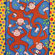Cheeky Monkeys Wc Art Print