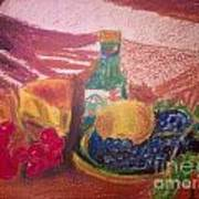 Chees And Bluberries Art Print