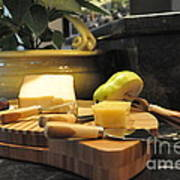 Cheeses And Fruit Art Print