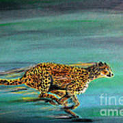 Cheetah Run Art Print