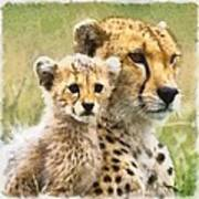 Cheetah Two Art Print