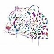 Cheetah Watercolor - White Art Print