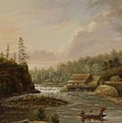Cheevers Mill On The St. Croix River Print by Henry Lewis