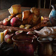 Chef - Food - A Tribute To Rembrandt - Apples And Rolls  Art Print