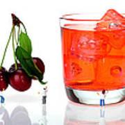 Chefs Making Cherry Juice Little People On Food Art Print