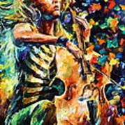 Chelo Player Art Print
