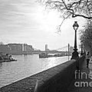 Chelsea Embankment London Uk 3 Art Print