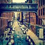 Chelsea Street As Seen From The High Line Park. Art Print