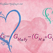 Chemical Thermodynamic Equation For Love 2 Art Print