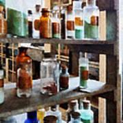 Chemistry - Bottles Of Chemicals Art Print