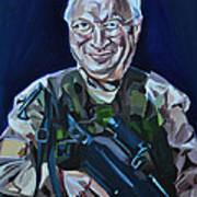 Cheneys Got A Gun Art Print by Stuart Black