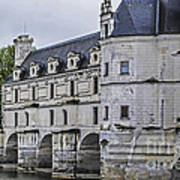 Chenonceau And River Cher Art Print
