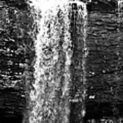 Cherokee Falls In Monochrome Art Print