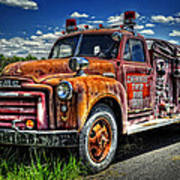 Cherokee Fire Truck Art Print