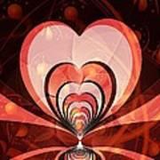 Cherries And Hearts Art Print