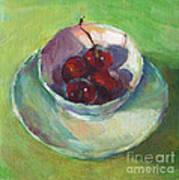 Cherries In A Cup #2 Art Print