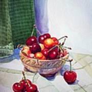 Cherries Art Print by Irina Sztukowski