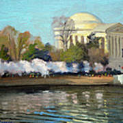 Cherry Blossoms Morning - Washington DC Art Print