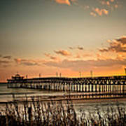 Cherry Grove Pier Myrtle Beach Sc Art Print