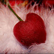 Cherry Heart Art Print
