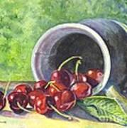 Cherry Pickins Art Print