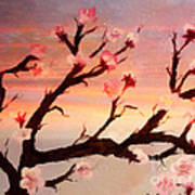 Cherry Tree Expresssive Brushstrokes Art Print