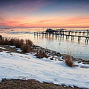 Chesapeake Bay Freeze Art Print