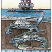 Chesapeake Bounty 1 Art Print by Jonathan W Brown