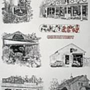 Cheshire Landmarks Art Print