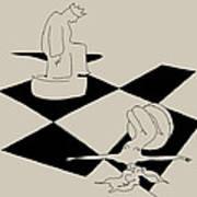 Chess And Art Art Print by Frida Kaas