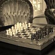 Chess Game Art Print