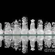 Chess Game Reflection Art Print