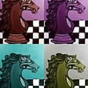 Chess Pop Art Art Print