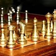 Chess Set  Print by Diane Merkle