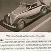 Chevrolet 1933 1930s Usa Cc Cars Art Print