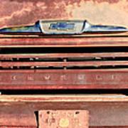 Chevrolet Apache 31 Pickup Truck Grille Emblem Art Print