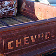 Chevrolet Apache 31 Pickup Truck Tail Gate Emblem Art Print