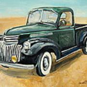 Chevrolet Art Deco Truck Art Print