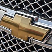 Chevrolet Bowtie Symbol On Chevy Silverado Grill E181 Art Print