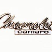 Chevrolet Camaro Emblem Art Print